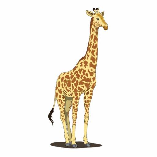 Desenhos animados do girafa fotoescultura