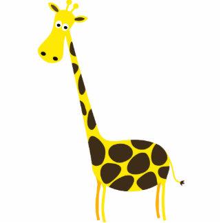 Desenhos animados do girafa fotoesculturas