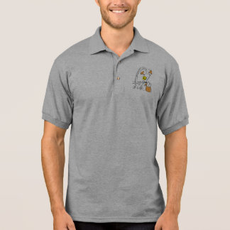 Desenhos animados do impacto do pato de Ding T-shirt Polo