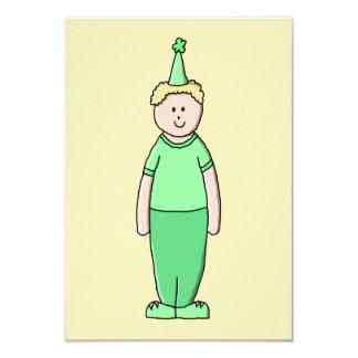 Desenhos animados do menino do aniversário no convite 8.89 x 12.7cm