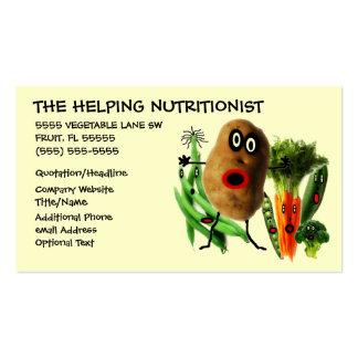 Desenhos animados do nutricionista cartão de visita