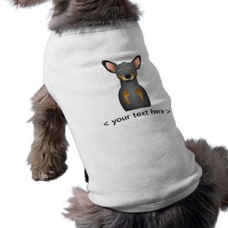 Desenhos animados do Pinscher diminuto personaliza Roupa Para Pet
