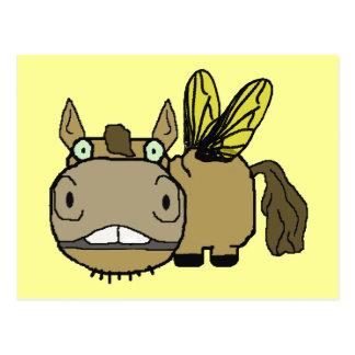 Desenhos animados do tabanídeo do cavalo de Schnoz Cartão Postal