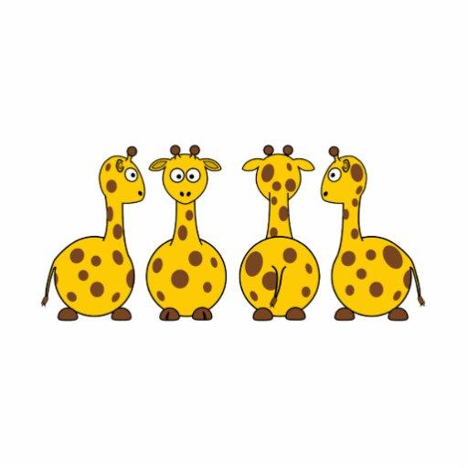 Desenhos animados dos girafas esculturafotos