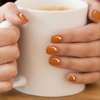 Desenhos animados elegantes da laranja da liga nail art