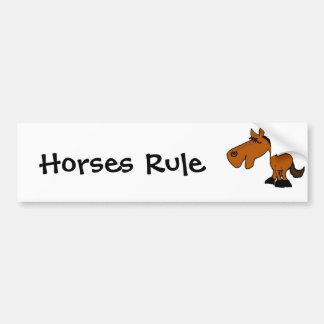 Desenhos animados engraçados do cavalo dos BU Adesivo Para Carro