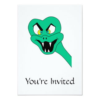 Desenhos animados engraçados do cobra convite