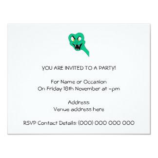 Desenhos animados engraçados do cobra convite 10.79 x 13.97cm