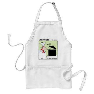 Desenhos animados engraçados do cozinheiro chefe d aventais