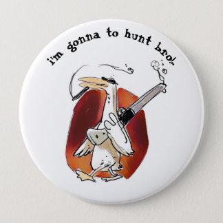 desenhos animados engraçados do pato do caçador bóton redondo 10.16cm