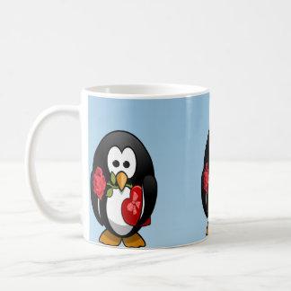 Desenhos animados engraçados do pinguim bonito do  caneca