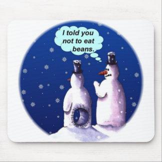 Desenhos animados engraçados dos bonecos de neve mouse pad