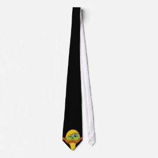 Desenhos animados impares engraçados do pato gravata