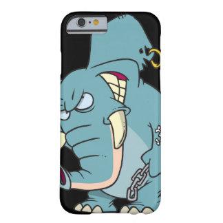 desenhos animados médios do elefante dos badass capa barely there para iPhone 6