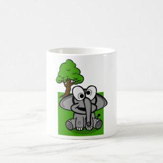 Desenhos animados patetas do elefante caneca de café