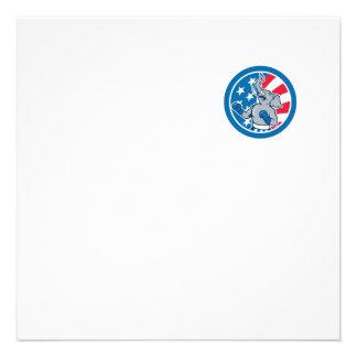 Desenhos animados republicanos do círculo da convite