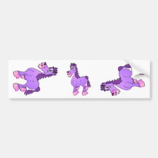 Desenhos animados roxos do cavalo adesivo para carro