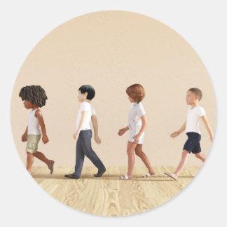 Desenvolvimento infantil com aprendizagem e jogo adesivo