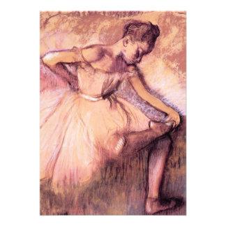 Desgaseifique convites cor-de-rosa da bailarina