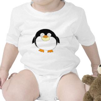 Desgaste carnudo do bebê do pinguim tshirt