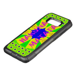 Design à moda colorido do teste padrão de Hakuna Capa OtterBox Commuter Para Samsung Galaxy S8+