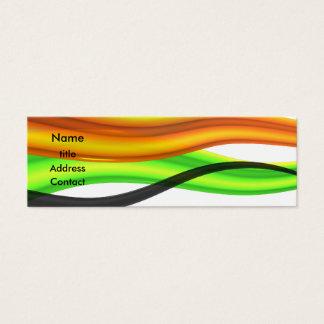 Design abstrato cartão de visitas mini