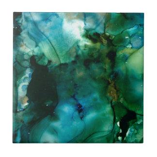 Design abstrato de fluxo azulejo quadrado pequeno