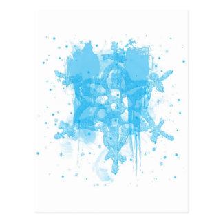 Design abstrato do floco de neve do azul cartão postal