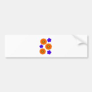 Design alaranjado azul floral adesivo para carro