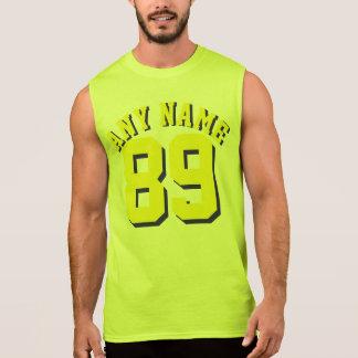 Design amarelo do jérsei dos esportes dos adultos camiseta sem manga