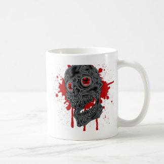 Design assustador contudo pateta do crânio do caneca de café