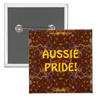 Design australiano da arte do Walkabout do Bóton Quadrado 5.08cm