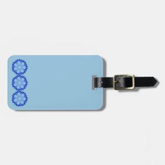 Design azul das mandalas no Tag da bagagem Tag De Bagagem
