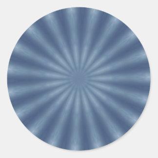 Design azul desvanecido do fractal adesivo