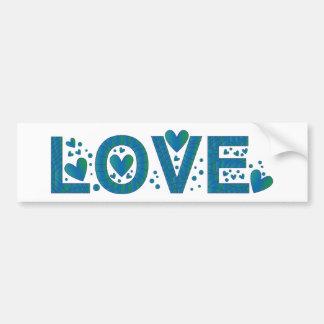 Design azul do amor adesivo para carro