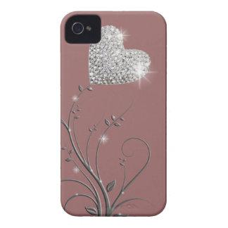 Design bonito brilhante do coração capa para iPhone 4 Case-Mate