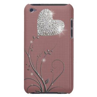 Design bonito brilhante do coração capa para iPod touch