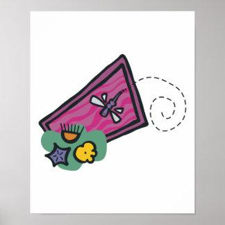 design bonito da libélula dos desenhos animados pôsteres