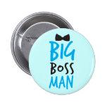 Design Bossy agradável do homem do chefe grande co Pins