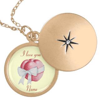 Design branco do casamento do arco dos corações colar medalhão