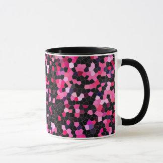 design caneca-cor-de-rosa e preto do café de caneca