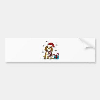 Design carnudo do Natal do coelho Adesivo Para Carro