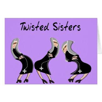 Design católico das irmãs dos presentes da freira cartão comemorativo