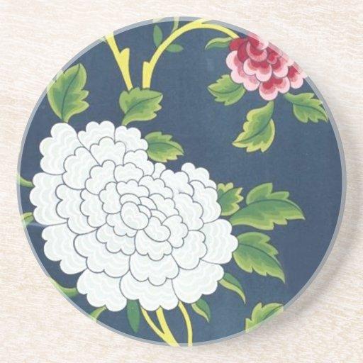 Design chinês da flor porta copos para bebidas