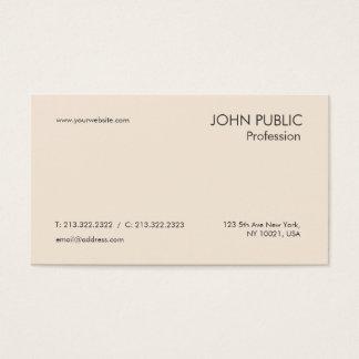 Design chique profissional moderno liso simples cartão de visitas