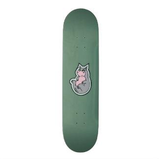Design cinzento novo feliz do desenho da cerceta shape de skate 18,4cm