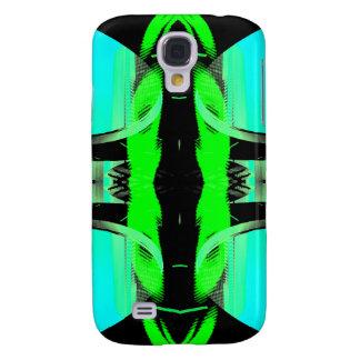 Design claro azul & roxo verde de néon CricketDian Galaxy S4 Cases