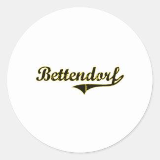 Design clássico de Bettendorf Iowa Adesivos Em Formato Redondos