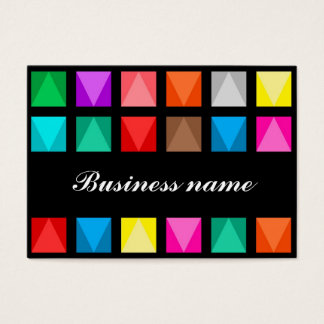 Design colorido cartão de visita grande