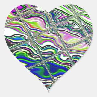 Design colorido do azulejo adesivo coração